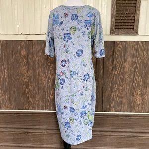 LuLaroe Dresses - LuLaRoe julia size L gray floral print